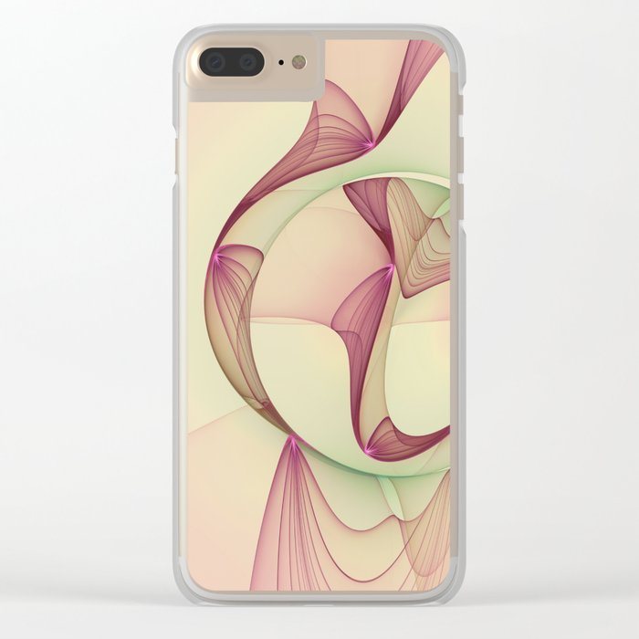 The Abstract Elegance, Modern Fractal Art Clear iPhone Case