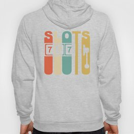 Retro 1970's Style Slot Machine Slots Gambling Hoody