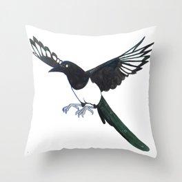 Cute Magpie Throw Pillow