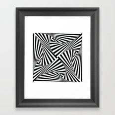 Twiangle BW Framed Art Print