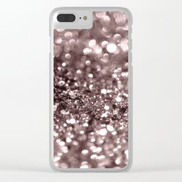 Sparkling Mauve Lady Glitter #2 #shiny #decor #art #society6 Clear iPhone Case