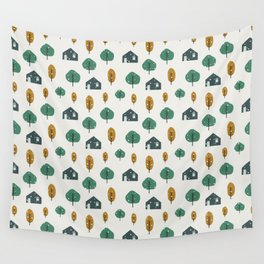 Colorful Winter Wall Tapestry