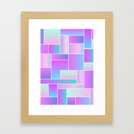 Abstract Holographic Pastel Pattern Framed Art Print