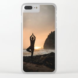 Fine Art Photograph - Yoga Nights Clear iPhone Case