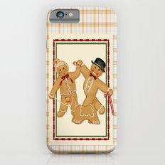 Gingerbread Family Country Plaid Christmas iPhone 6s Slim Case