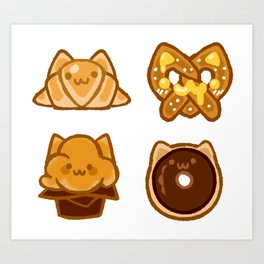 bakery kitties Art Print