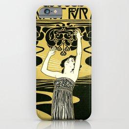 Art Nouveau Vintage Poster by Koloman Moser - Kunst fur Alle - Art for Everyone iPhone Case