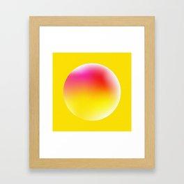Heatwave Sun Framed Art Print