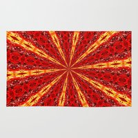 novelty Area & Throw Rugs featuring FALL KALEIDOSCOPE  by Teresa Chipperfield Studios