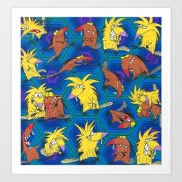 The Angry Beavers Norbert And Daggett Art Print