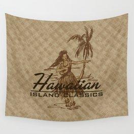 Tradewinds Hawaiian Island Hula Girl Wall Tapestry