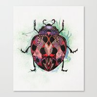 ladybug Canvas Prints featuring Ladybug by SilviaGancheva