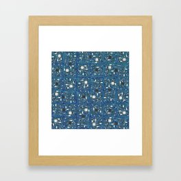 Blue tech Framed Art Print