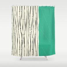 Moss Zebra Stripes Shower Curtain