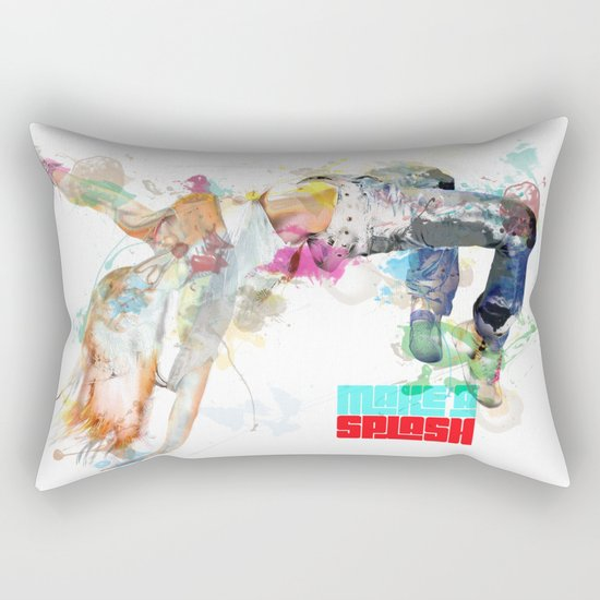 Make a splash! Rectangular Pillow