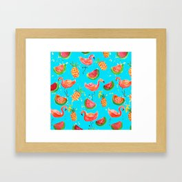 Flamingo Tropical Framed Art Print