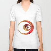 butterfly V-neck T-shirts featuring Butterfly   by Aloke Design