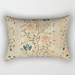 Uzbekistan Suzani Nim Embroidery Print Rectangular Pillow