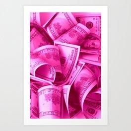 Pink Barbie Benjamins Art Print