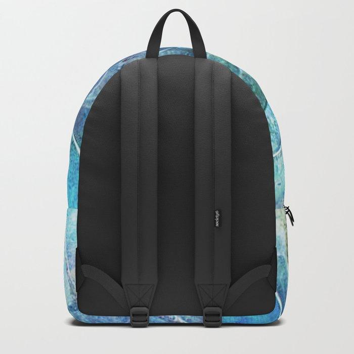 Aqua seashell -mother-of-pearl - Beautiful backdrop on #Society6 Backpack