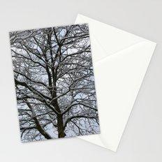 Snowy tree Stationery Cards