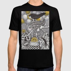 Roller Coaster Ride Black Mens Fitted Tee 2X-LARGE