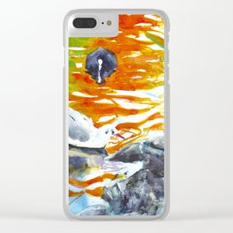 October reflections II Clear iPhone Case