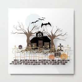 Halloween Sticker Metal Print