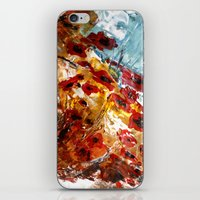 poppies iPhone & iPod Skins featuring Poppies by James Peart