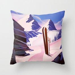 Bansko Bulgaria To Ski Throw Pillow