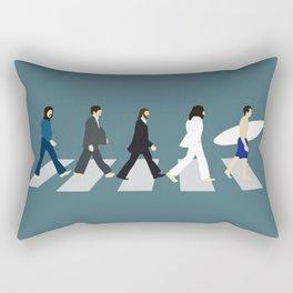 The Beattles & Surfer Man Rectangular Pillow