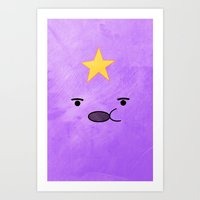 lumpy space princess Art Prints featuring Adventure Time - Lumpy Space Princess by hannahclairehughes