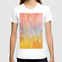 Crumpled Paper Textures Colorful P 53 T-shirt