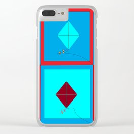 Grandma's Kites Quilt, My Version Clear iPhone Case