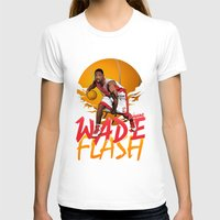 nba T-shirts featuring NBA Legends: Dwyane Wade by Akyanyme