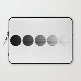 Modern Moon Dotted Pattern Laptop Sleeve
