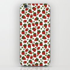 Strawberry Pattern iPhone Skin