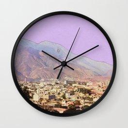 Lilac Skies Wall Clock