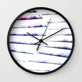 α White Crateris Wall Clock