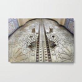 Marocco Door Mosaic Style Design Metal Metal Print
