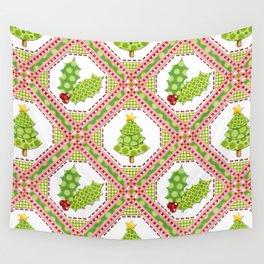 Polka Dot Christmas Wall Tapestry