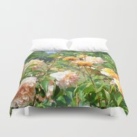 thanksgiving Duvet Covers featuring Faded Thanksgiving  by BananatheNana