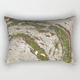 Mossy Stone Curves Rectangular Pillow