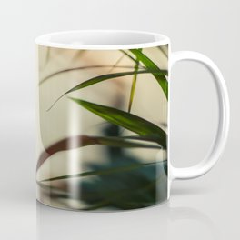 [1] Dancing people, dance, shadows, hands and plants, blurred photography, artistic, forest, yoga Coffee Mug