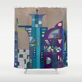 Droid City Shower Curtain