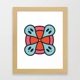rain circle Framed Art Print