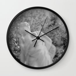 film photograph taken with crown graphic 4x5 camera Wall Clock