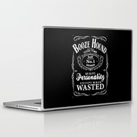 the hound Laptop & iPad Skins featuring Booze Hound by R-evolution GFX