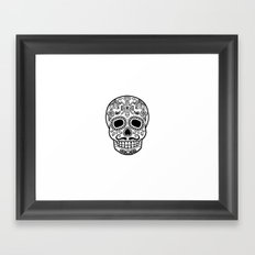 Mexican Skull - White Edition Framed Art Print