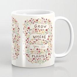 Grow where you are planted Coffee Mug